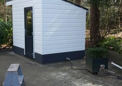 Tuinhuis camping eindresultaat